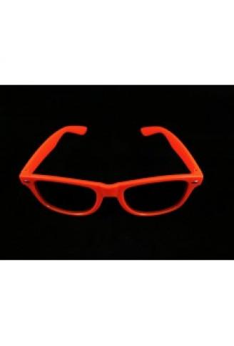 40b93c65af273 Óculos Restart - Laranja Fluorescente - NaMega Festas